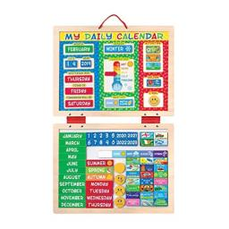"Melissa & Doug My Magnetic Daily Calendar, Seasonal & Religious (Daily Magnetic Calendar, Fabric-Hinged Dry-Erase Boards, 12"" H x 15.75"" W x 1"" L)"