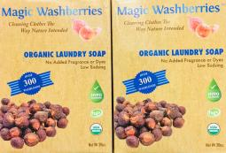2 Pk Magic Washberries Organic Laundry Soap ~*+ FAST FREE SHIPPING ! +*~