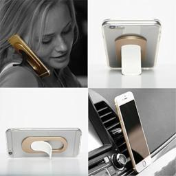 iTongue Car Mount Holder Smart Phone Stand for Any Phone I-Series White Tougue- Gold Sleeve