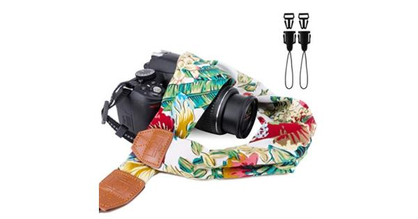 Elvam Universal Men and Women Scarf Camera Strap Belt Compatible for All DSLR Camera SLR Camera Instant Camera and Digital Camera - Floral Peony... Elvam Universal Men and Women Scarf Camera Strap Belt Compatible for All DSLR Camera SLR Camera Instant Camera and Digital Camera - Floral Peony Pattern