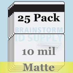 10 Mil Matte Butterfly Pouch Laminates with 1/2 HiCo Magnetic Stripes - 25 Pack