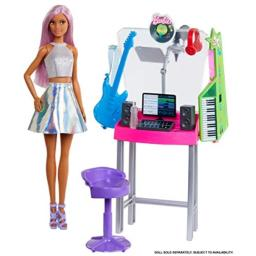 Barbie Career Places Playsets with Job Themes and Learning Fun, Recording Studio