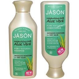JASON All Natural Organic Aloe Vera Shampoo and Conditioner Bundle with Dry Hair Treatment Product, Calendula, Chamomile and Grapefruit, No Sulfates, No ParMens, Vegan, 16 fl oz each