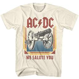 ACDC Heavy Metal Rock Band We Salute You Natural Adult T-Shirt Tee