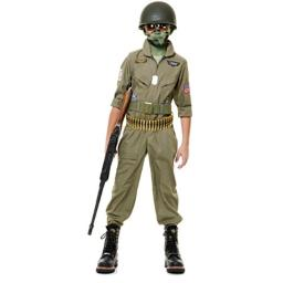 Charades Child's Wing Man Costume, Large Olive