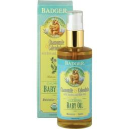 Badger Calming Baby Oil, 4 oz Bottle