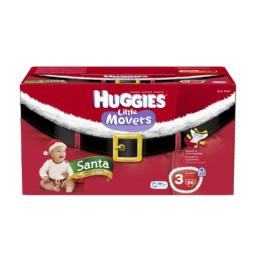 Huggies Little Movers Santa Diapers, Step 3, 66 Count