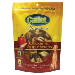 Cadet c07209 cadet premium gourmet chicken with apple wraps treats 14 ounces