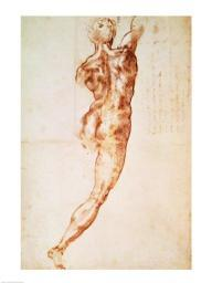 Nude, study for the Battle of Cascina Poster Print by Michelangelo Buonarroti BALXIR223190LARGE