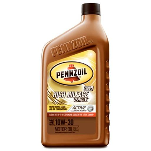 Pennzoil 550022818 5W20 High Mileage Vehicle Motor Oil, Pack of 6