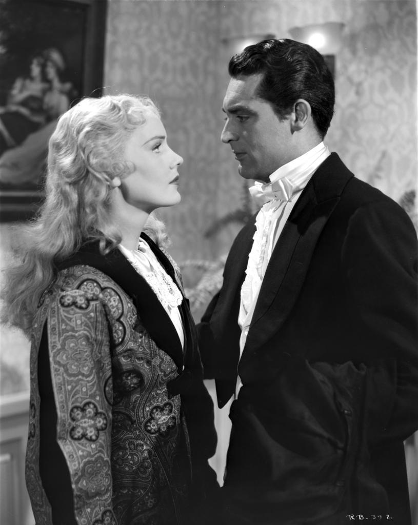A promotional still of Frances Farmer and a co star Photo Print