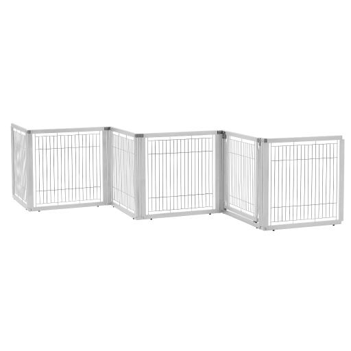 Richell 94959 origami white richell convertible elite freestanding pet gate 6-panel origami white 135.8 x 29.1 x 31.