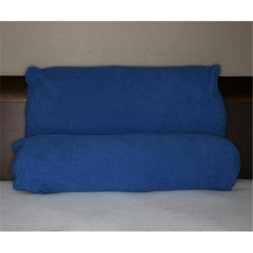Multi Position Pillow w/ extra Blue Micro Fiber Cover