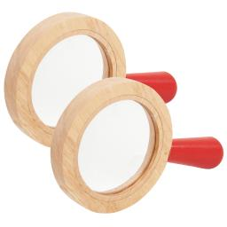 Learning advantage 2 ea wooden surround hand lens 72225bn