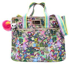 Tokidoki Camo Kawaii Cinch Crossbody Shoulder Bag
