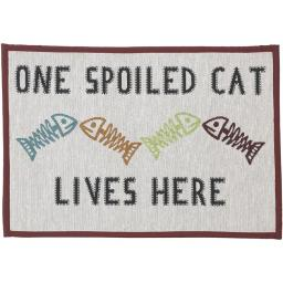 Petrageous Designs 10219 One Spoiled Cat Pet Placemat