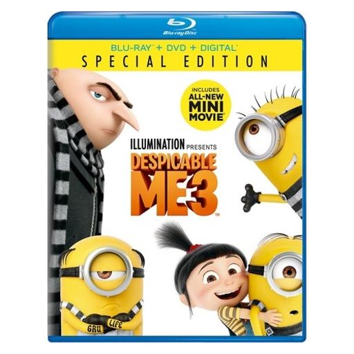 Despicable me 3 (blu ray/dvd w/digital hd) 2KGVTK64V7ULIB9N