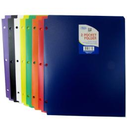 "Poly Folder - Assorted Colors - 9.5"" X 11.5"""