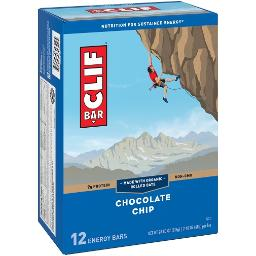 Clif Energy Bars Chocolate Chip 12 Pack