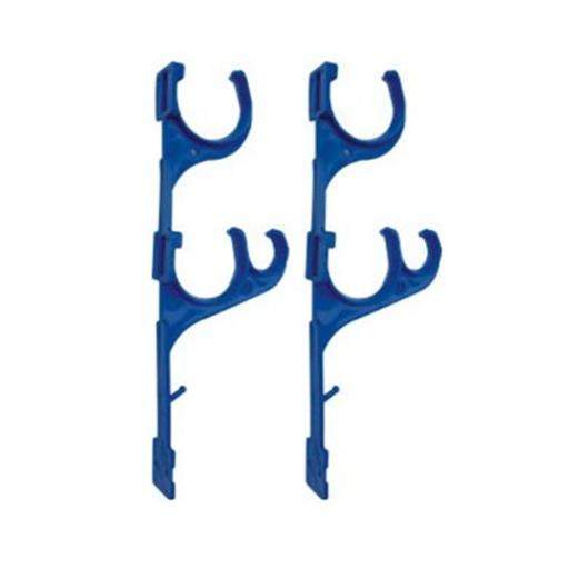 NorthLight 12.5 in. Blue Pole & Vacuum Hose Swimming Pool Accessory Hangers, Set of 2 5E443AED38A5E89C