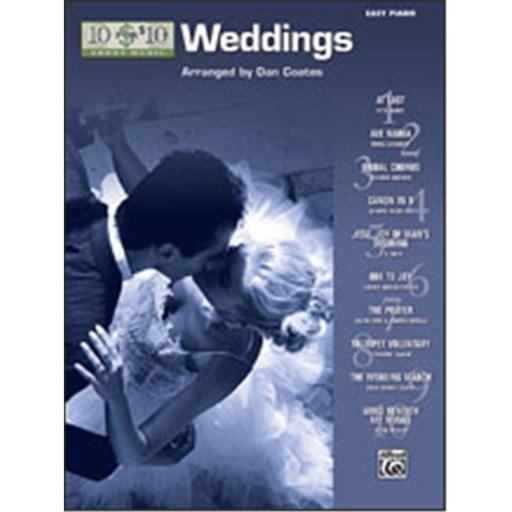 Alfred 00-33224 10 for 10 Sheet Music- Weddings - Music Book