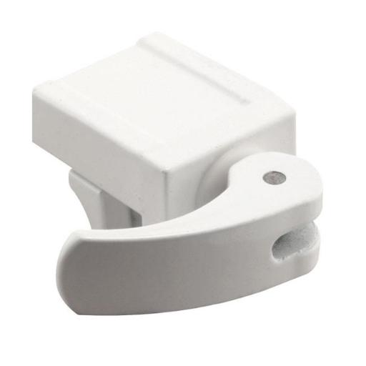 Prime-Line Products-Slide U 9809 White Vinyl Window Security Lock