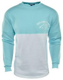 Basix Of America Miller Place Softball Two Tone Fleece Crewneck Pullover Sweatshirt Mens Style : CNR-5000-01