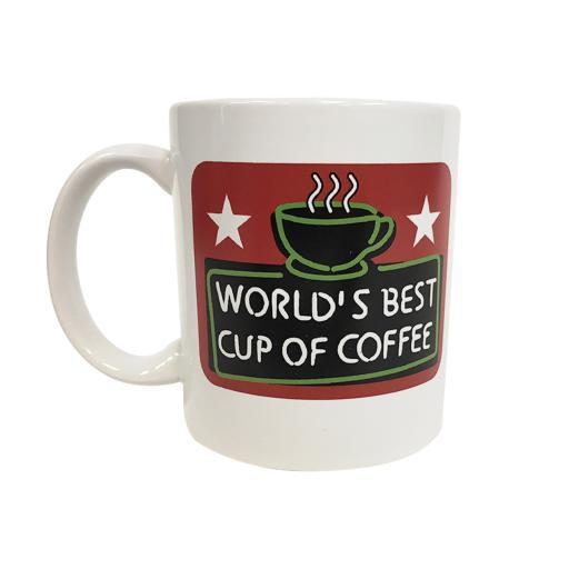 World's Best Cup of Coffee Mug Elf Christmas Movie Will Ferrell Shop Sign Buddy