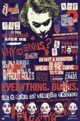 Batman The Dark Knight Joker Quitographic Dark Knight Poster Poster Print