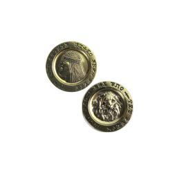 Conan Lion Gold Coin Collectible Fantasy Aquilonia Barbarian Destroyer
