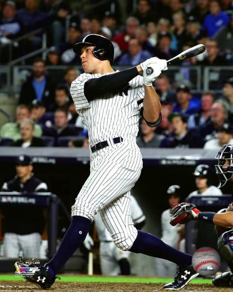 Aaron Judge 2 Run Home Run 2017 American League Wild Card Game Photo Print