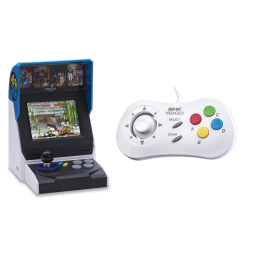 NEOGEO Mini International Video Game Console with 40 Games and White Mini PAD Controller