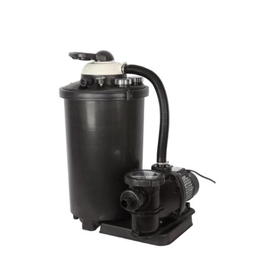 Flowxtreme NE4488 16 in. & 75 lbs Sand Filter System for Above Ground Pools, Black