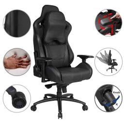 Anda Seat Racing Chair Gaming Carbon Fiber Leather 400lbs High Back Large Size Memory Foam Pillow & Lumbar Cushion