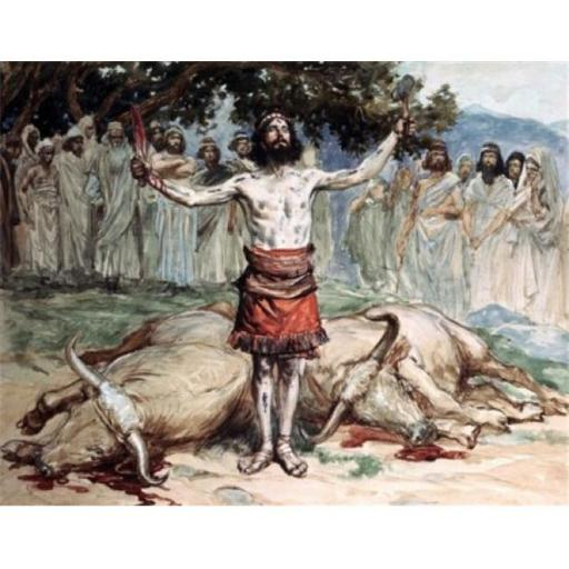 Posterazzi SAL999221 Saul Sacrifices the Oxen James Tissot 1836-1902 French Jewish Museum New York City Poster Print - 18 x 24 in.