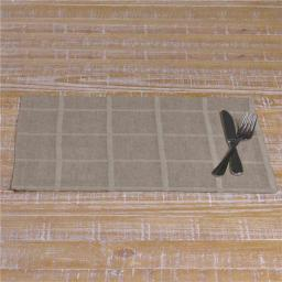 VHC Brands 33323 12 x 18 in. Julie Grey Plaid Placemat - Set of 6