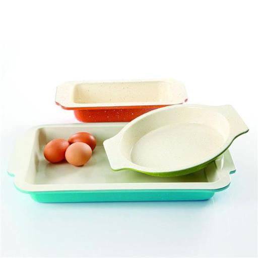 Ceramic Bakeware Set, 3 Piece