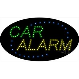 Sign Store L100-1919-outdoor Car Alarm Animated Outdoor LED Sign, 27 x 15 x 3.5 In.