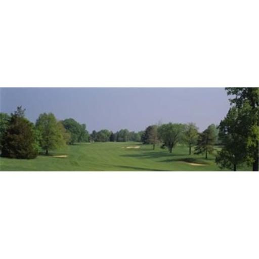 Panoramic Images PPI43339L Panoramic view of a golf course Baltimore Country Club Maryland USA Poster Print by Panoramic Images - 36 x 12