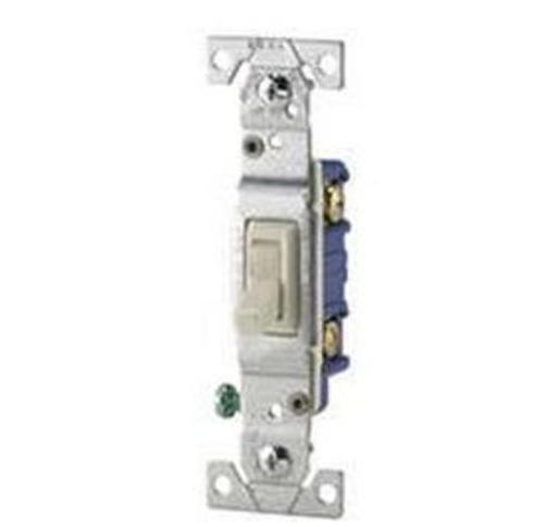 Cooper Wiring 1301-7v10 Grounded Toggle Switch, Ivory, 10/pk