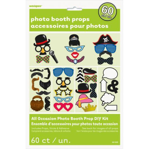 Photo Booth Props 60/Pkg- All Occasion RJNMPM1YZHG2USBL