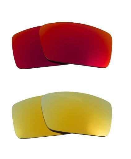 Best SEEK Replacement Lenses for Oakley SQUARE WIRE (2006) Red Green Mirror