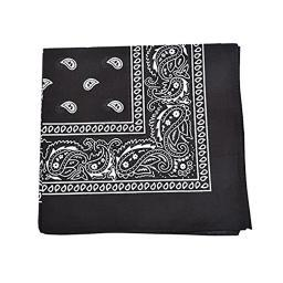 Pack of 96 Qraftsy Paisley 100% Cotton Double Sided Bandanas - Wholesale Lot