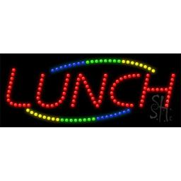 Sign Store L100-0813 Lunch Animated LED Sign, 27 x 11 x 1 In.