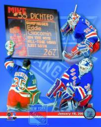 Mike Richter New York Rangers All-Time Wins Leaders Composite Photo Print PFSAAPK05101