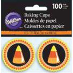 Mini Baking Cups-Candy Corn 100/Pkg W3169