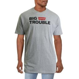 Levi's Mens Big Trouble Logo Graphic T-Shirt