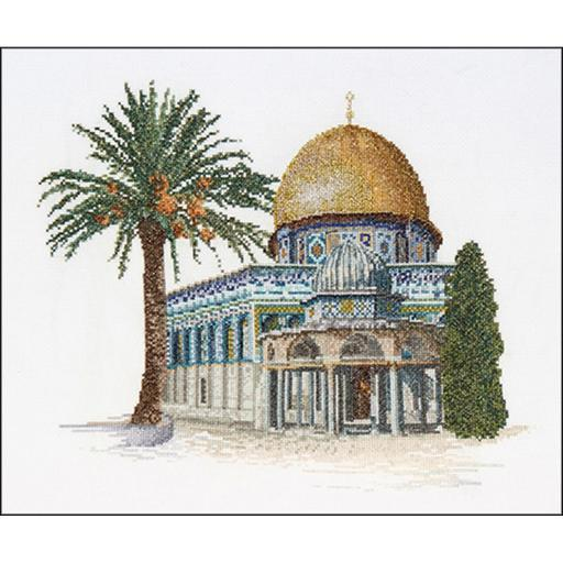 Dome Of The Rock On Aida Counted Cross Stitch Kit 11.5