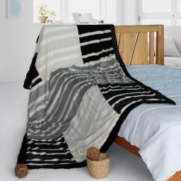 """Onitiva - Charming Leopard Patchwork Throw Blanket (61""""-86.6"""")"""
