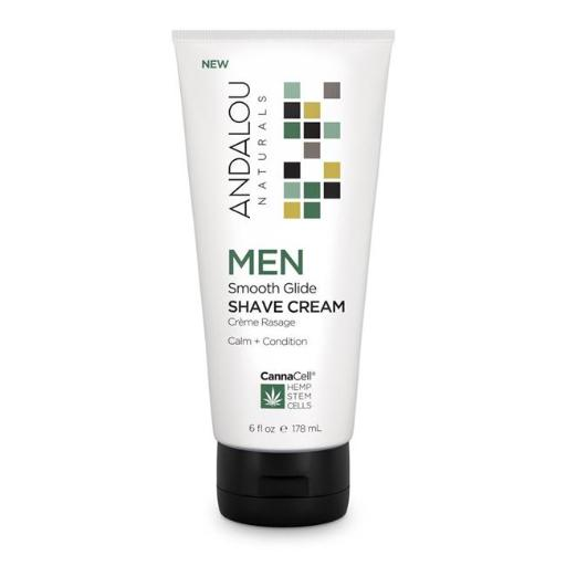 Andalou Naturals 509736 6oz Smooth Glide Shave Cream for Men ESYT1DVQAXHK4IXF